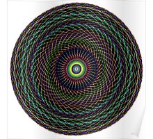 Multi Colored Swirl 2 Poster
