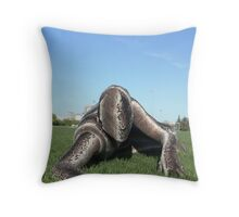 Sssssnake in the Grass 2 Throw Pillow