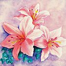 Irene&#x27;s Pink Lilies by AngelArtiste