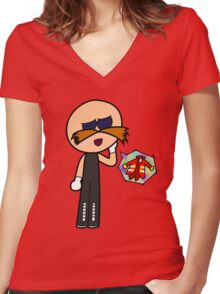 Tsundere Genius Women's Fitted V-Neck T-Shirt