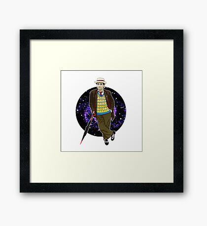 The 7th Doctor - Sylvester McCoy Framed Print
