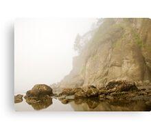 Misty Ocean Island Canvas Print