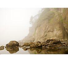 Misty Ocean Island Photographic Print