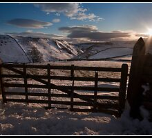 Views over Conistone in the snow by Shaun Whiteman