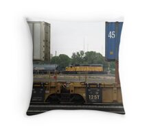 Cheyenne Trains Throw Pillow