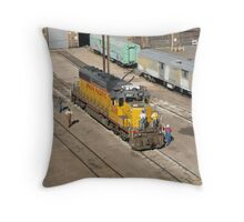 Cheyenne Yard Locomotive Throw Pillow