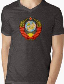 Emblem of the Soviet Union  Mens V-Neck T-Shirt