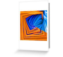 Romance of Blue and Orange Greeting Card