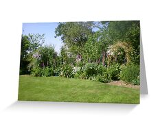 Serene Country Garden Greeting Card