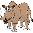 Rhino Cartoon by Graphxpro