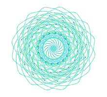Turquoise Swirl by Lily Saltonstall