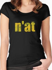 Vintage n'at (Pittsburgh) text Women's Fitted Scoop T-Shirt
