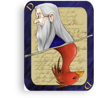 Albus Dumbledore Playing Card Canvas Print