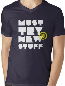 must try new stuff Mens V-Neck T-Shirt