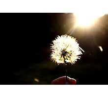 Wishes at my fingertips Photographic Print