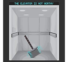 The elevator is not worthy Photographic Print