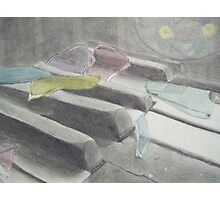 Stained Glass Piano Photographic Print