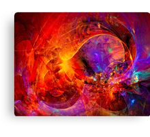 Birth of a wish - digital abstract art Canvas Print