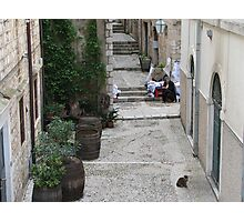 Somewhere in Dubrovnik Photographic Print