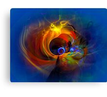 Black Hole - digital abstract art Canvas Print