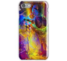 Camp fire story - digital abstract art iPhone Case/Skin