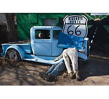 Gettin My Kicks on Route 66 Photographic Print