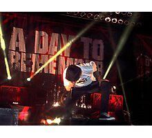 Jeremy Mckinnon - A Day To Remember Photographic Print