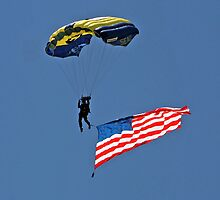 Parachuting with the Flag by Donna R. Carter