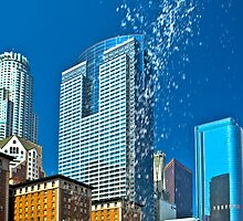 Pershing Square Waterfall by photosbyflood
