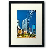 Pershing Square Waterfall Framed Print