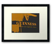 { guinness beer brewery in dublin, ireland } Framed Print