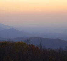 Autumn Dusk, Blue Ridge Mountains by Stephen Vecchiotti