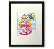 Peachy! Framed Print