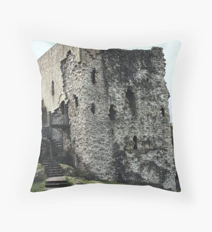 The Castle Remains Throw Pillow