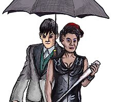 Gotham: Fish Mooney and The Penguin by billyfalcon