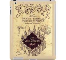 Map Harry potter castle, The Marauders Map Harry potter iPad Case/Skin