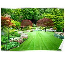 A View of Sunken Garden in Springtime! Poster