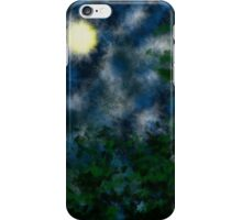Bushes in moonlight iPhone Case/Skin