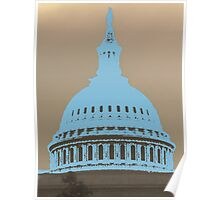 ( united states capitol dome in washington dc } Poster