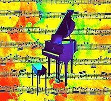 Retro Piano by sparkleddesigns