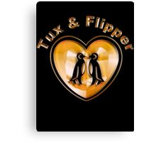 Tux And Flipper Canvas Print