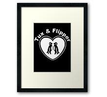 Tux And Flipper Framed Print