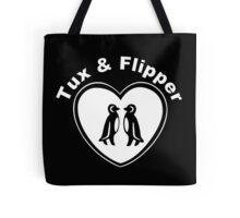 Tux And Flipper Tote Bag