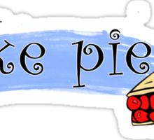 I like Pie. Sticker