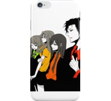 Steins gate characters anime shirt iPhone Case/Skin
