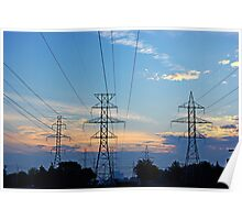 High voltage in the sky Poster