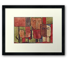 Faces of Africa Framed Print