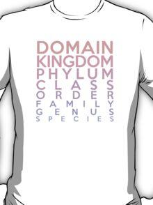 Domain, Kingdom, Phylum, Class, Family, Genus, Species T-Shirt