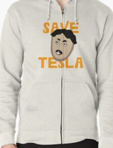 Save Tesla Zipped Hoodie