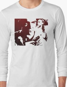 James Bond in Red Long Sleeve T-Shirt